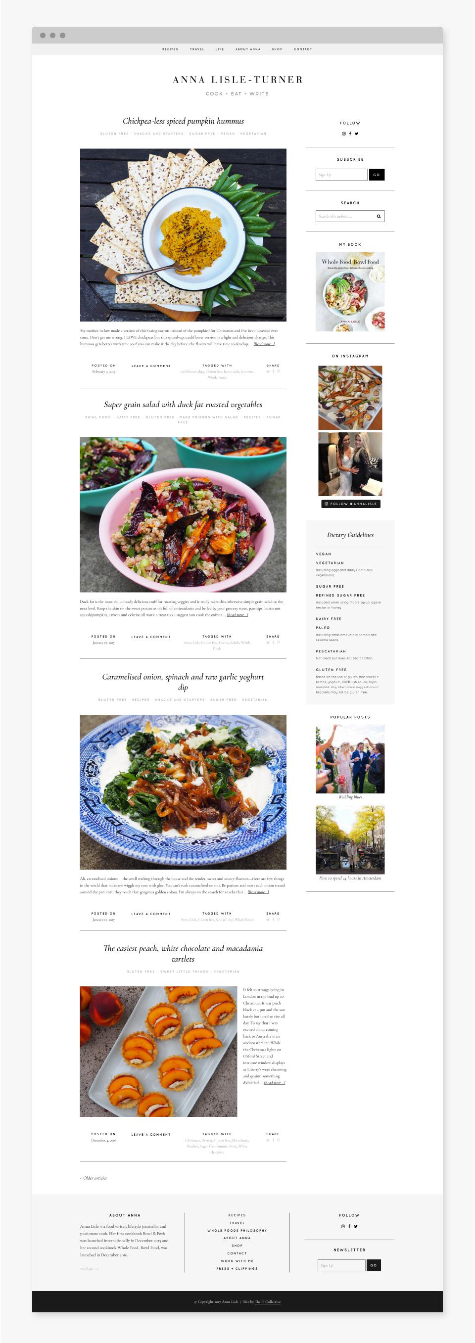 Anna Lisle - Blog Design - Idyllic Creative