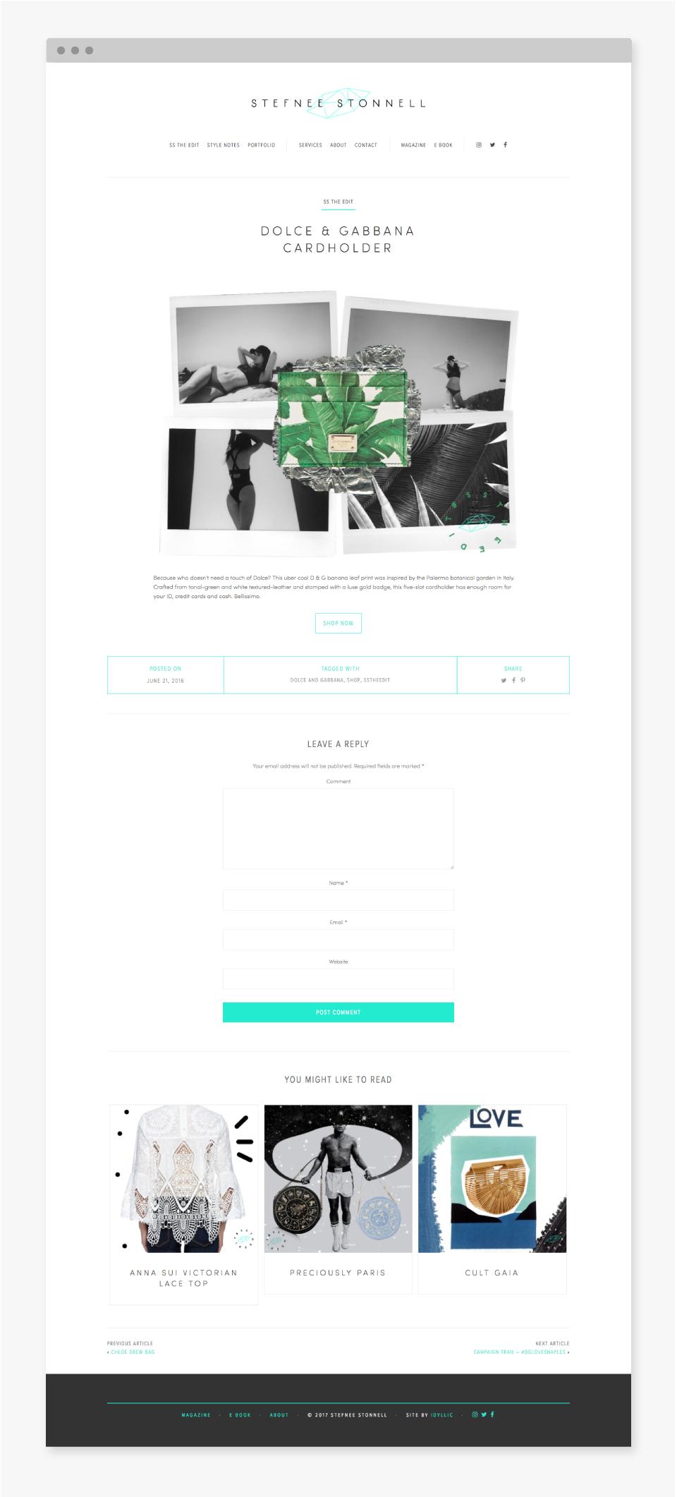Stefnee Stonell Website - Idyllic Creative
