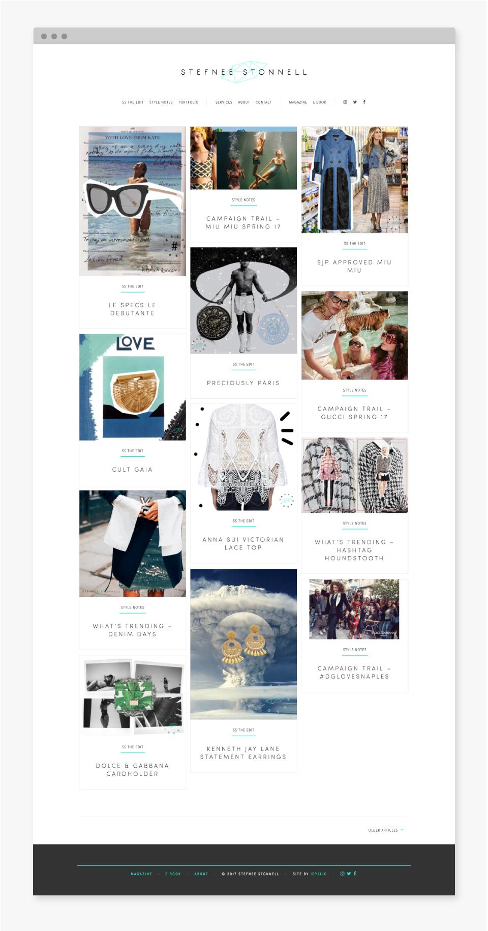 Stefnee Stonnell Website - Idyllic Creative